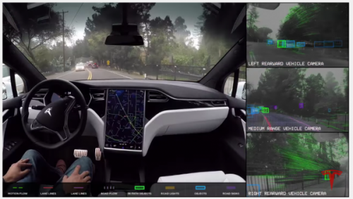 Tesla Autopilot In Action