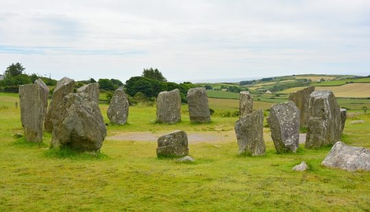 ancient earthwork stone circle