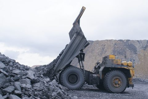 coal production vehicle dumping