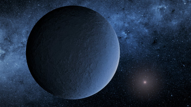 "Artistic Illustration of OGLE-2016-BLG-1195Lb Credits: NASA/JPL-Caltech ""IceBall Planet"""