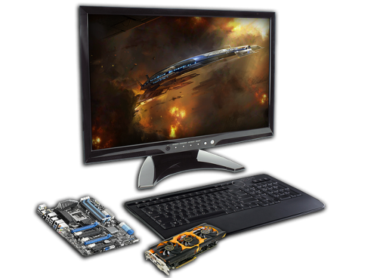 LCD, Motherboard and video card