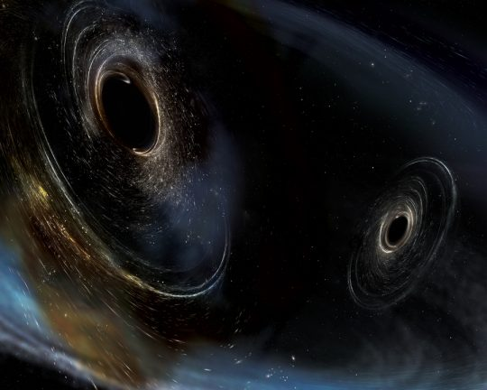 Hear the 'chirp' of gravitational waves passing through Earth