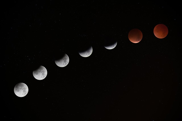 Lunar Eclipse Stages, Blood Moon (top)
