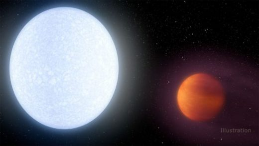 Super hot planet discovered orbiting an even larger, hotter star