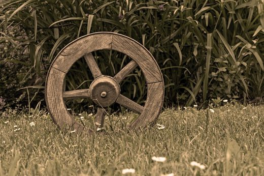 old wood wheel
