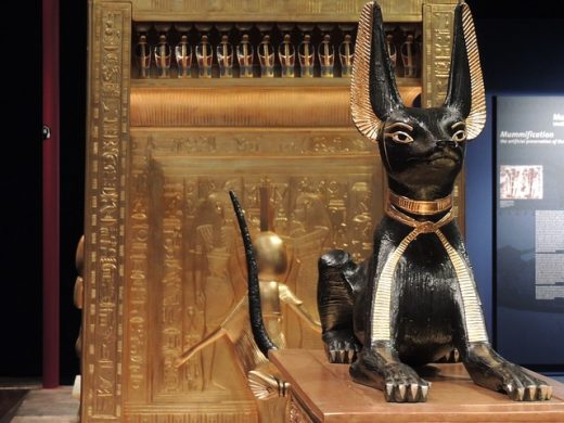 sacred cat memorial from Egypt
