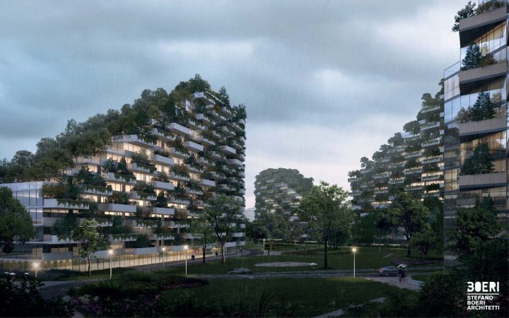 China set to build world-first 'Forest City'; image by Stefano Boeri Architetti
