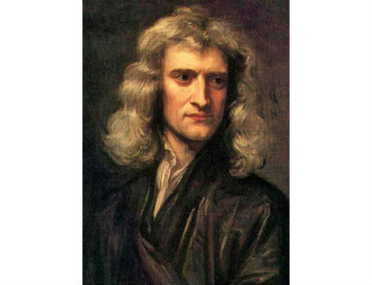 painting by Godfrey Kneller of Isaac Newton 1689