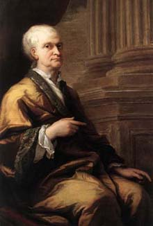 Isaac Newton in old age in 1712, portrait by Sir James Thornhill